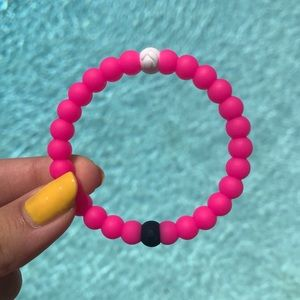 LARGE Hot Pink Lokai Bracelet Breast Cancer